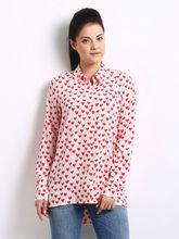 proveedor de china de lujo de diseño floral las mujeres blusa de impresión