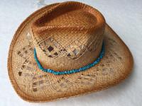Purple Blue cowboy straw hat Cheap