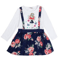 H6593 WHITE 2-6y 2015 new girl dresses nova kids wear print my little GIRL frock kids dress nova kids children dress