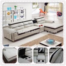 Muebles para el hogar sofa/sofá de la sala con muebles reposacabezas y titular de la taza kt1215