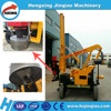 Hydraulic post driver steel beam guardrail pile driver