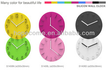 (S1408N)2015 New design 3D Silicone wall clocks wholesale Silicone wall clock