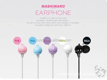 Present headset. Lovely animal promotion earbud earphone for Christmas gift for giveaway.