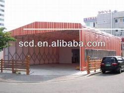 Movable Car Parking Tent,Carport Tent,PVC Covered,Aluminum Frame
