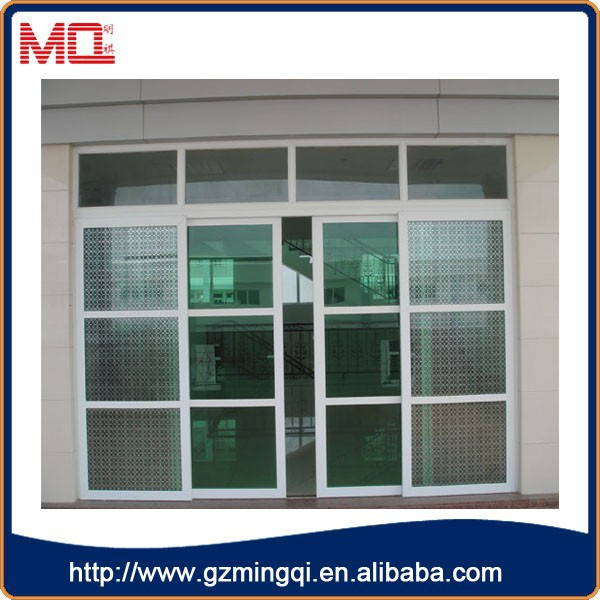 Grill Design Pvc Interior Door Soundproof Transparent Glass Sliding Door For House View