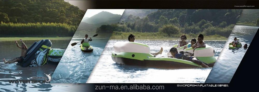 Salon gonflable le flottante radeaux avec 8 porte gobelet installations de - Ile flottante gonflable ...