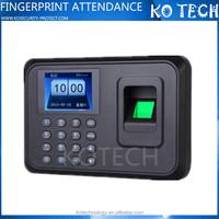 KO-H26 BLACK EMPLOYEE BIOMETRIC TIME ATTENDANCE RECORDER