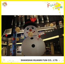 Wholesale snowman with led lights for shopping center