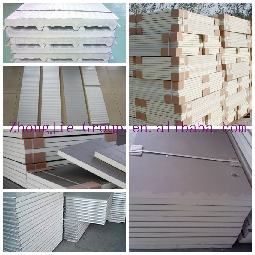 China Low Cost Building Construction Material Pu Rockwool Glass Wool Wall Sandwich Panel Price