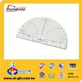 Papelaria redação PVC plástico transparente transferidor