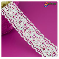 Wholesales graceful design white chemical net embroidery lace for evening dress from Bailange Trimmings