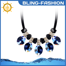 2015 hot selling unique design leaves shape choker necklace short sweater chain