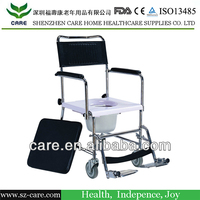FDA approved toilet commode chair wheelchair with wheel