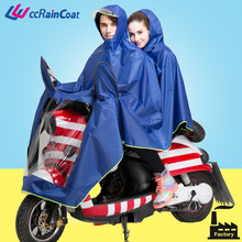 polyester double riding motorcycle raincoats