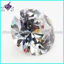 wholesale round gems machine cut cz stone in low price