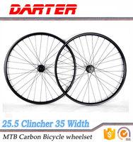 27.5 inch 35mm width 25.5mm depth hookless carbon mtb bike wheels