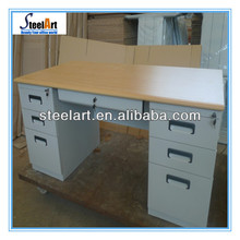 Steelart office desk with locking drawers