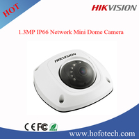 Hikvision 1.3MP mini vandal proof dome ip camera support wifi ,alarm and POE