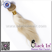 100% human remi hair premium quality without mix clip in hair extensions #613 light blonde