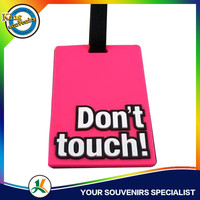 Eco-friendly PVC Luggage Badges Promotion Rubber Name Bag,Silicone Badge Gifts