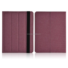 Pu Leather Plain Design Case For Samsung Galaxy Tab 10.1 Universal Case Cover