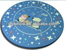 Blue silicone cup mat embossed star and midnight