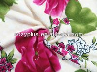 2013 alibaba top 10 Fleece Blanket 100% Polyester Fabric for chirstmas new year gift