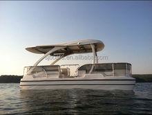 SANJ pontoon passenger boat CE approved catamaran twin hull