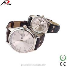 Hot selling watches design your own watch couple lover wrist leather watch