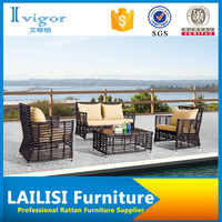 Modern elegant wicker sofa rattan garden sofa set outdoor furniture sofas