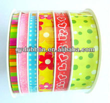 Popular Grograin Patterned Ribbon With Custom Logo/Fabric Ribbon for Easter decoration