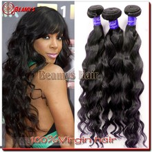 Beamyshair raw unprocessed virgin indian hair extensions, top quality wholesale indian human hair