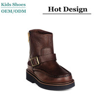 2015 Best selling oem winter italian leather boots for girl