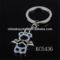 Promotion Aluminum Mini Angel Bear Newest Keychain Supplier