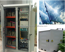 DDTE041 (Solar Power + Generator + Batteries) IP45 Integrated Outdoor Telecom Cabinet For Remote Area