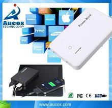 5000mah Dual USB universal mobile phone Rohs portable power bank charger