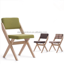 Modern fabric wood minimalist conference hotel single chair
