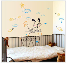 Mixed order dog on clouds wall decal wholesales wall sticker