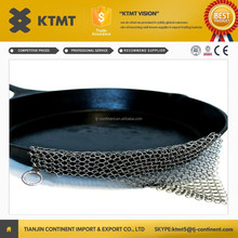 Premium 7x7/ 8x6 inch Square Chain Mail Cast Iron Cleaner/Stainless Steel Chainmail Scrubber from Alibaba Malaysia
