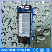 Xuzhou Sanye supermarket cooler curved glass door freezer, display showcase chiller for beer