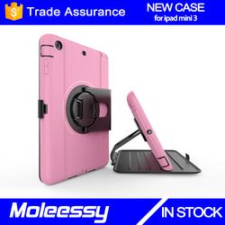 China supplier accessories case for ipad mini tablet minion case for ipad mini 123 with 360 degree spin stand