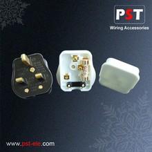 P5002 UK 13A 250V Fused Plug Socket,Bar Cord Grip,Urea