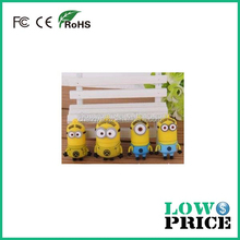 Hot sale free sample despicable me bulk 2gb usb flash drives for promotional gift