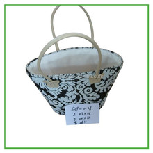 Wholesale Vintage Pattern Paper Rope Eco Shopping Bag