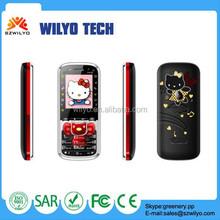 WN12C Small Cute Mobile Phone 1.8 Dual Sim Hello Kitty Cell Phone