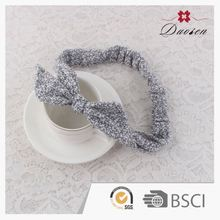 Make To Order Handicraft Polyester Hairband Ribbon Knot Hair Accessories Fashion Pleated