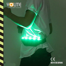 LED light purse,reflective light pockets,light waist bag,led luminous belt with CE EN13356