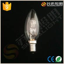 clear/frosted/opal Color and E27/B22 Specification C35 halogen lamp