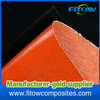 glass fiber silicone rubber coated fabric made in china