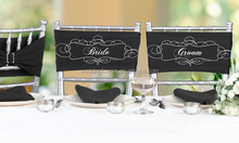Bride and Groom Chair Decorations (Sash Set)